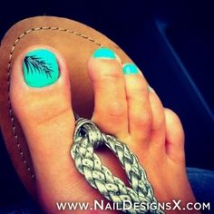 cute toe nail design