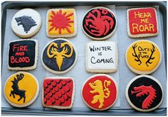 Game of Thrones cookies! I need to get me some food markers.