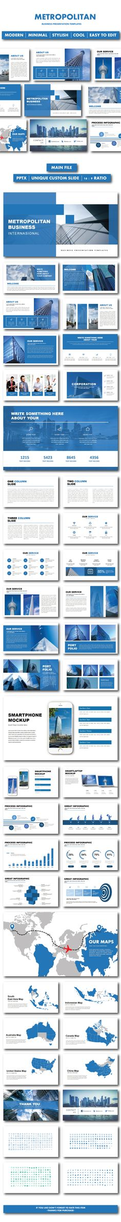 Metropolitan Business PowerPoint Templates