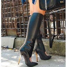Privileged Gemma Knee High Heel Boots - http://myshoebazar.com/product/privileged-gemma-knee-high-heel-boots/