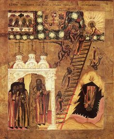 The Ladder of Divine Ascent by Saint John Climacus of the Ladder century) stands as a witness to the violent effort needed for entrance into God's Kingdom (Matthew Black History Facts, Art History, Saint Catherine's Monastery, Black Jesus, Byzantine Icons, Orthodox Icons, African History, Christian Art, Religious Art