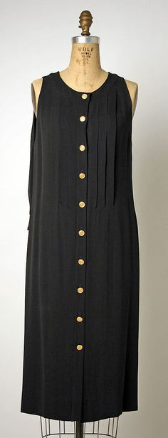 Karl Lagerfeld Dress for House of Chanel c.a. 1985/89, Medium: silk