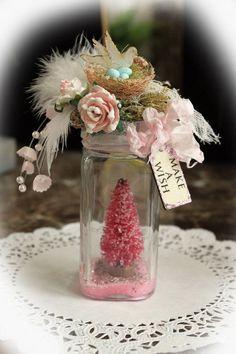 Make A Wish Altered Christmas Jar, Bottle
