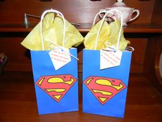 Superman Party Favor Gift Bags by creationsabc on Etsy, $2.50