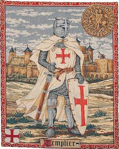 The Knight Templars were a religious/military order founded in 1120 to protect pilgrims to the Holy Land, active for about two hundred years. Originally called the Poor Fellow-Soldiers of Christ and of the Temple of Solomon. It became wealthy after being endorsed by the Church. As well as gaining military renown they were successful as engineers and bankers.