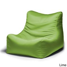 Ponce Outdoor Patio Bean Bag Chair (Lime (Green)), Patio Furniture (Acrylic)
