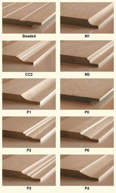 wood door panel profiles @ Cabinet Doors Depot