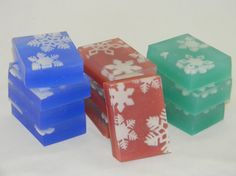 Snowflake Soap for the Holidays Handmade by Bubbleooka (Butters and Bubbles, LLC)