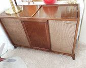 VINTAGE Mid Century Modern Hi Fi Stereo Console by thevintedgeco