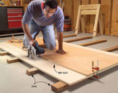 Create Circular Saw Cutting Guides for Plywood Make circular saw cuts so clean that you don't have to sand or touch up the plywood edges