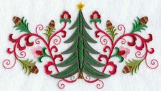 Machine Embroidery Designs at Embroidery Library! - Suzani Christmas Tree and Pine