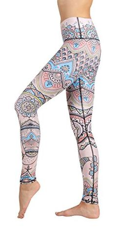 """Yoga Democracy Eco-Friendly Mystic Elephant Leggings (32"""" Inseam) (XL) Techno-fabric that's breathable and sweat-wicking for hot and sweaty workouts. Rated excellent for UPF protection (equivalent to UVB/UVA 40-50+) High, no-fuss waistband that smooths over your tummy area Elastic-free waist means zero muffin-top effect no matter your body type Wear these leggings waist rolled up or down; our 4-way stretch fabric, will keep you ready for all sweaty activities. Luxury I"""