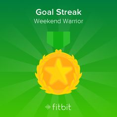 I reached my goal of 10,000 steps every day of the Weekend Warrior challenge! #Fitbit