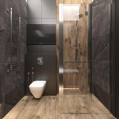 Do you want to have a modern small bathroom? Here we present the 45 Modern Small Bathroom Decor Ideas. May you inspire and build your bathroom as you wish from this article. Bathroom Design Luxury, Bathroom Layout, Modern Bathroom Design, Interior Design Kitchen, Bathroom Ideas, Bathroom Remodeling, Remodeling Ideas, Family Bathroom, Bathroom Organization