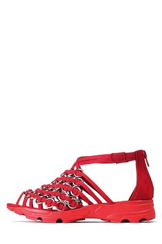 Jeffrey Campbell Shoes ZISSOU Red in Red