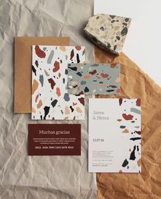 invitaciones de boda — Holyoke Paper Co. Web Design, Print Design, Logo Design, Brochure Design, Design Graphique, Art Graphique, Corporate Design, Geometric Patterns, Wedding Stationery