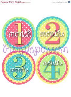 ON SALE ON Sale Monthly Baby Milestone Stickers by PurplePossom, $8.73