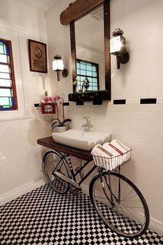 Image on The Owner-Builder Network  http://theownerbuildernetwork.co/recycled-and-repurposed/repurposed-bicycle-parts/
