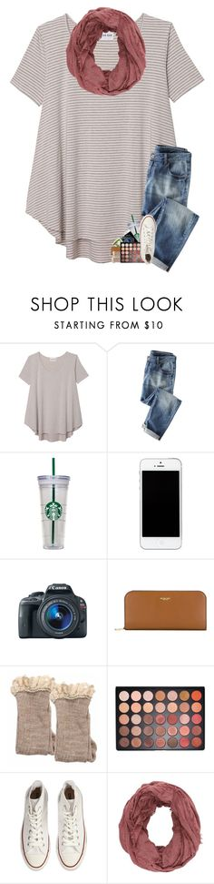 """""""can't stand the cold weather :("""" by sanddollars ❤ liked on Polyvore featuring Olive + Oak, WALL, Eos, Michael Kors, Morphe, Converse and Charlotte Russe"""