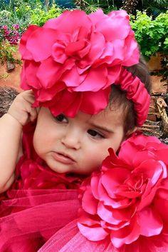 Jm Handmade Satin flower headband.
