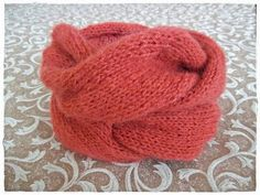 OVERSIZED CABLE NECKWARMER.  I knitted for myself a neck warmer with my favourite Soffio Plus (Adriafil) yarn on size 5.5...