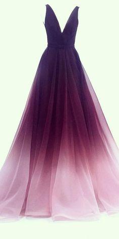 Long Sleeve Black Homecoming Dresses Off Shoulder Short Prom Dress A-line V-neck Chiffon Ombre Long Prom Dresses Simple Formal Gown Ombre Prom Dresses, Pretty Prom Dresses, Simple Prom Dress, Unique Prom Dresses, Grad Dresses, Ball Dresses, Elegant Dresses, Homecoming Dresses, Beautiful Dresses