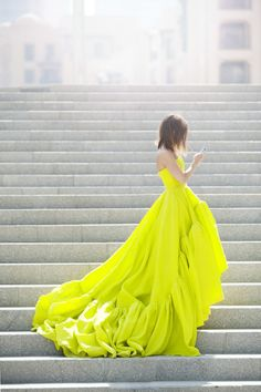 Miroslava Duma X Tommy Ton for Symphony Dubai in Jason Wu yellow gown Spring/Summer 2012 Gorgeous Wedding Dress, Beautiful Dresses, Pretty Dresses, Beautiful Beautiful, Beautiful Scenery, Perfect Wedding, Yellow Gown, Chartreuse Dress, Green Dress