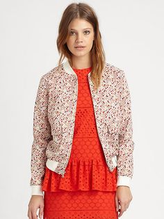 Thakoon Addition - Liberty-Print Bomber Jacket, $637.95 from Fashion Gallery at eBay.com.au