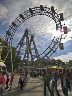 Wiener Prater Amusement Park, Vienna, Ferris Wheel, Fair Grounds, Street, Travel, Viajes, Traveling, Tourism