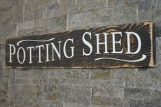 Potting Shed Rustic Wooden Sign Garden Sign by CanadaWoodworksShop