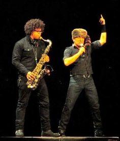 Bruce Springsteen and Jake Clemons