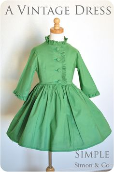 Simple Simon & Company: A Green Vintage Dress