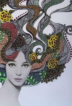 """Saatchi Online Artist Linda Lovenstein; Drawing, """"Jean."""" #art"""