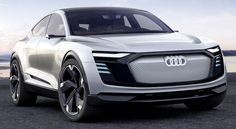 Audi e-tron Sportback concept, 2017. A new electric coupé crossover prototype which previews a Q7 model