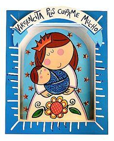 Virgencita Nueva | virgencita Plis | virgencita buena onda | cute imágenes para bajar | tamaño grande | art collection Art Illustration Retreat Gifts, Arte Country, Mama Mary, Holy Mary, Rustic Crafts, Madonna And Child, Catholic Saints, Mother Mary, Lessons For Kids