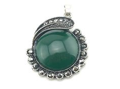 Green Onyx, Black Onyx, Green Stone, Art Deco Jewelry, Marcasite, Mixed Metals, Stone Pendants, Stone Jewelry, Are You The One