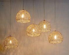 20% OFF Ceramic lighting fixture. Hanging chandelier. Cluster