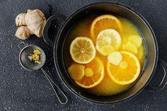 Så enkelt lager du ingefærshot | Coop Mega Ginger Shot, Grapefruit, Punch Bowls, Food And Drink, Orange, Drinks, Healthy, Smoothie, Thoughts