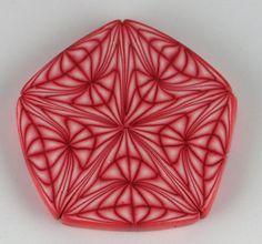Geo Polymer Clay Cane | by Sharp Art by Dawna