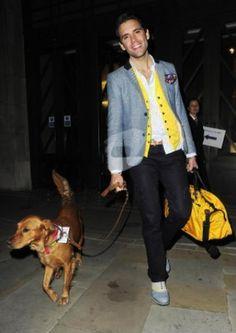 Mika walking with Melachi