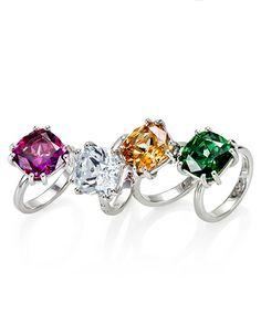 Solitario in argento pietra swarowsky e diamantino naturale incassato a mano. Made in Italy http://www.argentoro.it/it/anelli