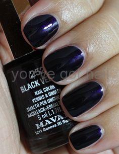 Mavala Black velvet   #EssentialBeautySwatches   BeautyBay.com