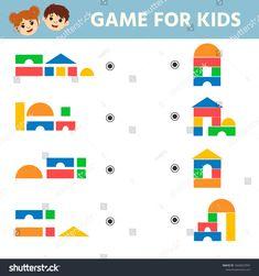 Education Logic Game Preschool Kids Kids Stock Vector (Royalty Free) 1604823994