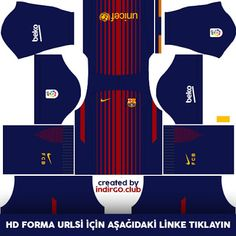 Barcelona Home Kit Dream League Soccer  b5b745e49ecf4