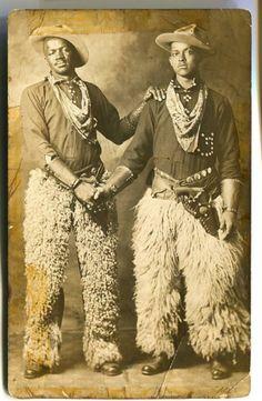 Two black cowboys, c. 1913