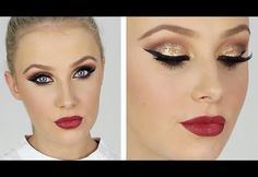 This is such an awesome special occasion makeup tutorial showing an ultra glam look with some shimmer and shine!  #MakeupTutorial #GlamMakeupTutorial