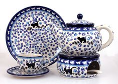 Black Cat . *** ELIMAshop.cz *** Handmade Polish Pottery from Boleslawiec . Bunzlauer keramik . ceramics . stoneware . ELIMAshop.cz , shipping worlwide . Artystyczna .