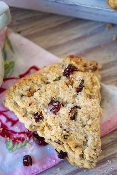 Christmas Scones Recipe-These tender/crumbly, full-flavored scones feature cranberries and pecans. With oats in the dough, they're a tasty throwback to their Scottish origins.