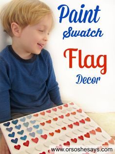 Paint Swatch Flag Decor - A Kid-Friendly Craft (she: Kari)