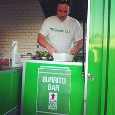 B. from Jumping Bean Buritto cooking up a storm in his GreenLight tshirt - @GreenLightGL